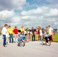 Field Day tricycle race